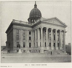 Downtown Paterson - Image: Passiac County Courthouse, Paterson, NJ, 1906