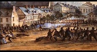 "Lower Canada Rebellion - Louis-Joseph Papineau submitted his ""Ninety-two Resolutions"" after protesters were shot in Montreal."