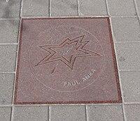 La stella di Paul Anka nella Canada's Walk of Fame