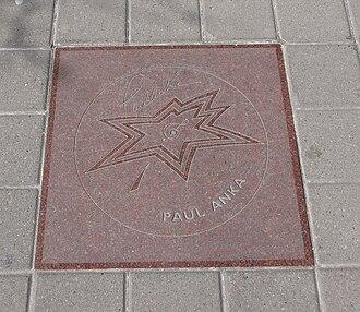 Paul Anka - Paul Anka's star on Canada's Walk of Fame