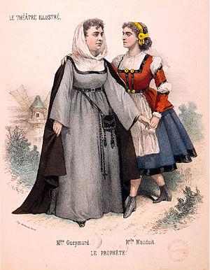 Pauline Guéymard-Lauters - Pauline Guéymard-Lauters (left) in Le Prophète in 1866