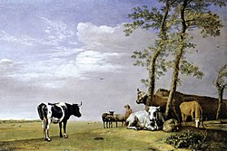 Paulus Potter: A Husbandman with His Herd