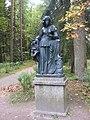 """Pavlovsk Park. Twelve tracks. Statue """"Melpomene""""..JPG"""