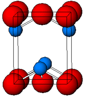 Lead(II) oxide - Image: Pb O structure