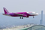 Peach Aviation ,MM24 ,Airbus A320-214 ,JA812P ,Arrived from Taipei ,Kansai Airport (16800989722).jpg