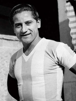 Adolfo Pedernera - Pedernera with the   Argentina national team, c. 1945.