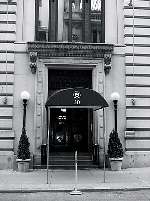 Penn Club of New York City - A view of the front entrance to the Penn Club of New York