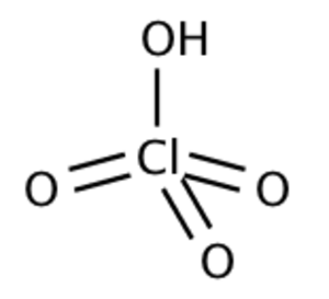 Acid strength - Perchloric acid (HClO4) is an oxoacid and a strong acid.