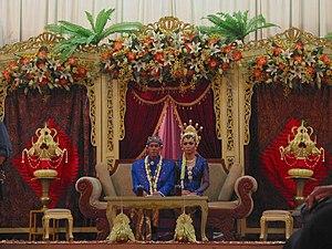 Javanisation - Javanese cultural identity were reinforced through traditional ceremonies, such as Javanese wedding