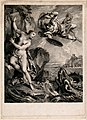 Perseus and Andromeda. Engraving by Laurent Cars after Francoise LeMoyne. Wellcome V0048197.jpg