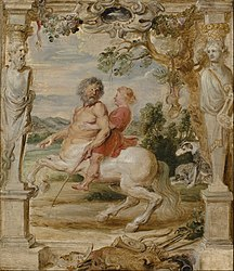 Peter Paul Rubens: Achilles Educated by the Centaur Chiron