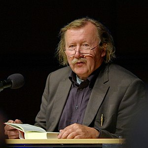 German philosopher Peter Sloterdijk reading fr...
