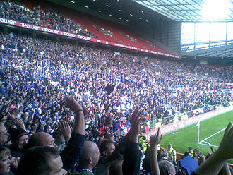 Peterborough United F.C. - Peterborough United fans at Old Trafford in 2011