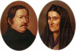 Sándor Petőfi - Petőfi's parents (painted by Petrich Soma Orlay)