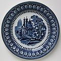 Petrus Regout & Co. decorative plate Agra blue 001.jpg