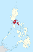 Map of the Philippines highlighting CALABARZON