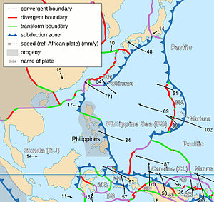 Geography of Taiwan - Taiwan lies on the western edge of the Philippine Plate