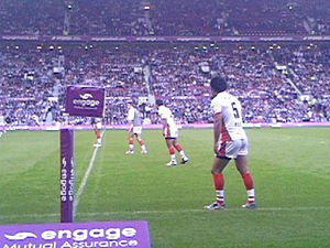 Francis Meli - Meli warming up for St. Helens in the 2006 Super League Grand Final against Hull F.C. at Old Trafford