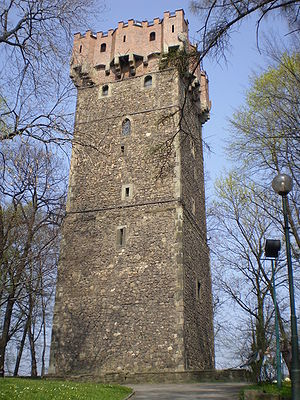 Duchy of Teschen - Piast castle tower in Cieszyn, part of the former ducal residence