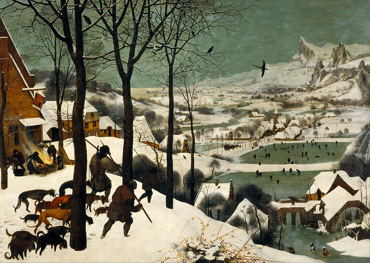 Image result for bruegel hunters in the snow