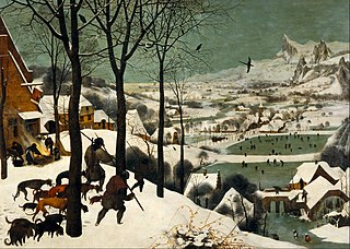 <i>The Hunters in the Snow</i> painting by Pieter Brueghel the Elder
