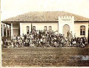 Hadera - Jewish school in Hadera, 1931