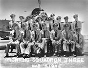 Pilots of US Navy Fighting Squadron 3 (VF-3) on 5 March 1942