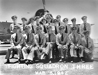 Edward O'Hare - VF-3: Front row, second from right: Lt. Edward Butch O'Hare.