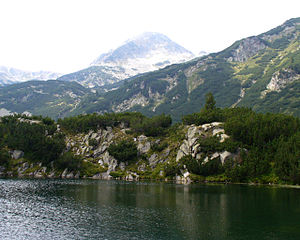 View of a lake and marble peak