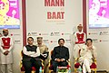 Piyush Goyal alongwith the Governor of Maharashtra, Shri C. Vidyasagar Rao and the Chief Minister of Maharashtra, Shri Devendra Fadnavis at the book launch of Mann ki Baat, at a function, in Mumbai.jpg