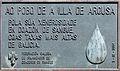 Placa conmemorativa doazón de sangue. A Illa de Arousa 04.jpg
