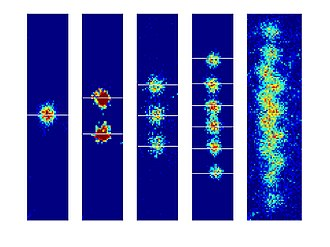 Trapped ion quantum computer - Magnesium ions in a trap.