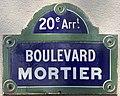 Plaque Boulevard Mortier - Paris XX (FR75) - 2021-06-02 - 1.jpg