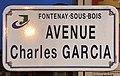 Plaque avenue Charles Garcia Fontenay Bois 1.jpg