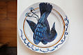 Plate with a painting of a falling crow - 20110831.jpg