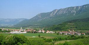Vipava Valley - The village of Podnanos in the Upper Vipava Valley