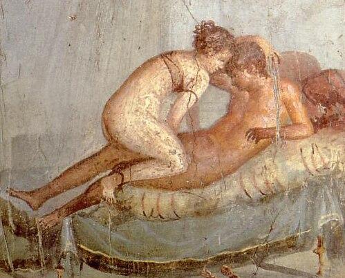 Pompeii - Casa del Centenario - Cubiculum - detail