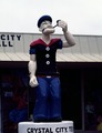 Popeye the Sailor Man is an apt symbol of the South Texas town near which huge spinach farms thrive. Crystal City, Texas LCCN2011633332.tif