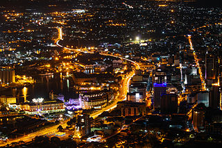 Port Louis, Mauritius at night.jpg