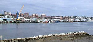 Fore River (Maine) - The Fore River, looking towards Portland from South Portland