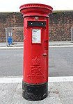 Post box on Regent Road, Liverpool.jpg