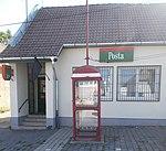 Post office and Magyar Telekom phone booth, 2018 Zsámbék.jpg