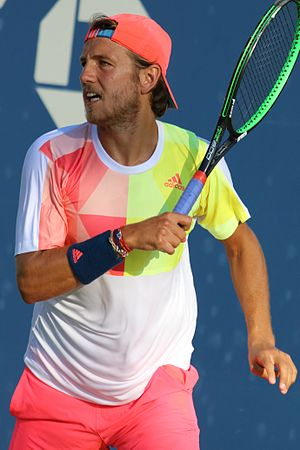Lucas Pouille - Pouille at the 2016 US Open
