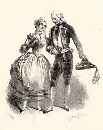 Le postillon de Lonjumeau - Prévost and Chollet as Madeleine and Chapelou