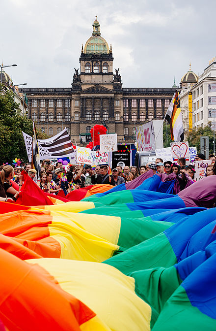 Beautiful PRIDE PARADE in Prague