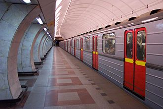 Line B (Prague Metro) - Train at Anděl station