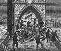 Praha Barricades Charles Bridge panel 1848.jpg