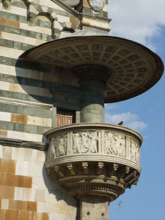Prato Cathedral - Outside pulpit by Donatello and Michelozzo