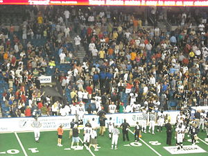 War on I-4 (arena football) - Image: Preds In The Stands