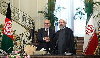 Ashraf Ghani - Ghani meeting with Iranian President Hassan Rouhani in Saadabad Palace